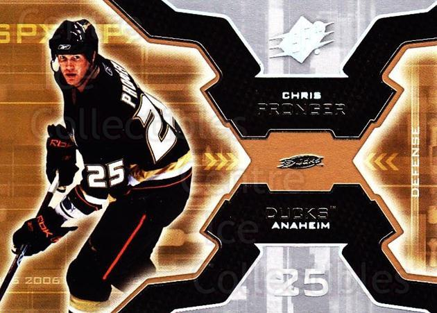 2006-07 SPx #1 Chris Pronger<br/>6 In Stock - $1.00 each - <a href=https://centericecollectibles.foxycart.com/cart?name=2006-07%20SPx%20%231%20Chris%20Pronger...&quantity_max=6&price=$1.00&code=132922 class=foxycart> Buy it now! </a>