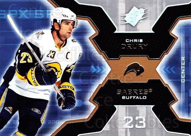 2006-07 SPx #11 Chris Drury<br/>6 In Stock - $1.00 each - <a href=https://centericecollectibles.foxycart.com/cart?name=2006-07%20SPx%20%2311%20Chris%20Drury...&quantity_max=6&price=$1.00&code=132924 class=foxycart> Buy it now! </a>