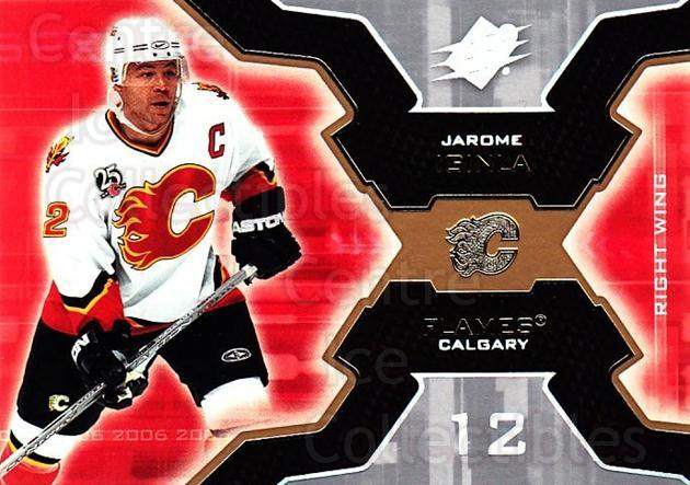 2006-07 SPx #14 Jarome Iginla<br/>6 In Stock - $1.00 each - <a href=https://centericecollectibles.foxycart.com/cart?name=2006-07%20SPx%20%2314%20Jarome%20Iginla...&quantity_max=6&price=$1.00&code=132927 class=foxycart> Buy it now! </a>