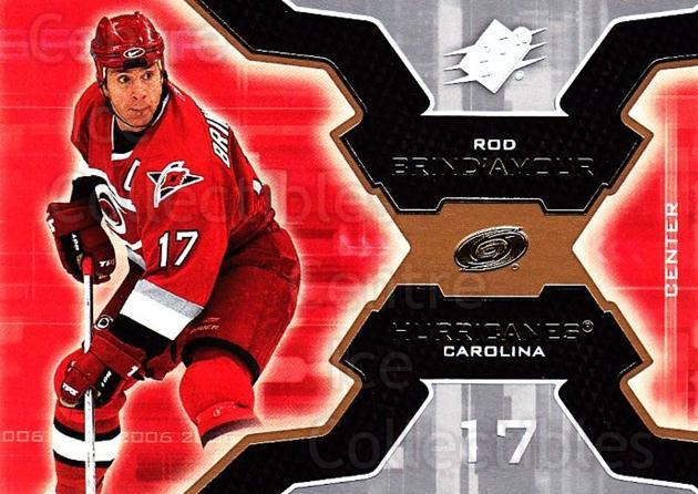 2006-07 SPx #18 Rod Brind'Amour<br/>6 In Stock - $1.00 each - <a href=https://centericecollectibles.foxycart.com/cart?name=2006-07%20SPx%20%2318%20Rod%20Brind'Amour...&quantity_max=6&price=$1.00&code=132931 class=foxycart> Buy it now! </a>