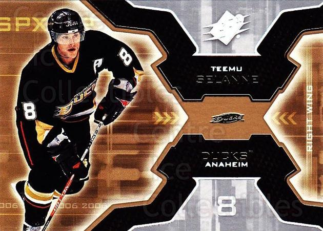2006-07 SPx #2 Teemu Selanne<br/>5 In Stock - $2.00 each - <a href=https://centericecollectibles.foxycart.com/cart?name=2006-07%20SPx%20%232%20Teemu%20Selanne...&quantity_max=5&price=$2.00&code=132934 class=foxycart> Buy it now! </a>