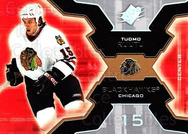 2006-07 SPx #21 Tuomo Ruutu<br/>5 In Stock - $1.00 each - <a href=https://centericecollectibles.foxycart.com/cart?name=2006-07%20SPx%20%2321%20Tuomo%20Ruutu...&quantity_max=5&price=$1.00&code=132940 class=foxycart> Buy it now! </a>