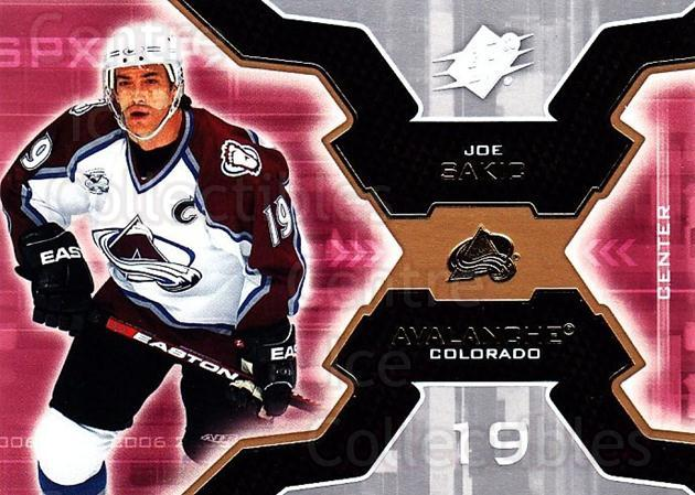 2006-07 SPx #22 Joe Sakic<br/>4 In Stock - $2.00 each - <a href=https://centericecollectibles.foxycart.com/cart?name=2006-07%20SPx%20%2322%20Joe%20Sakic...&quantity_max=4&price=$2.00&code=132942 class=foxycart> Buy it now! </a>