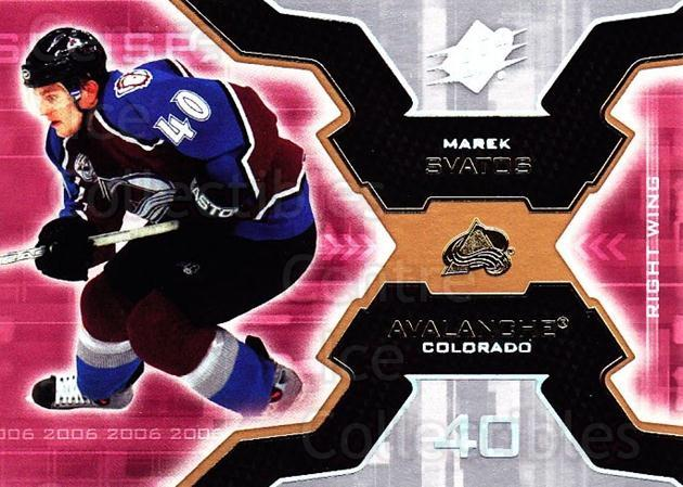 2006-07 SPx #23 Marek Svatos<br/>5 In Stock - $1.00 each - <a href=https://centericecollectibles.foxycart.com/cart?name=2006-07%20SPx%20%2323%20Marek%20Svatos...&quantity_max=5&price=$1.00&code=132943 class=foxycart> Buy it now! </a>