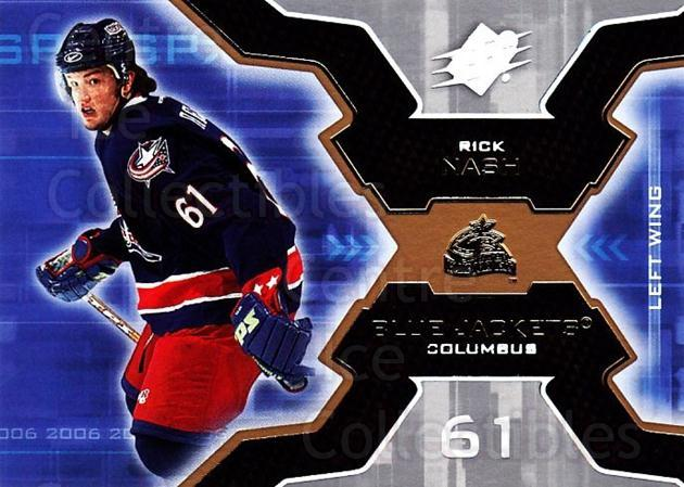 2006-07 SPx #26 Rick Nash<br/>6 In Stock - $1.00 each - <a href=https://centericecollectibles.foxycart.com/cart?name=2006-07%20SPx%20%2326%20Rick%20Nash...&quantity_max=6&price=$1.00&code=132946 class=foxycart> Buy it now! </a>