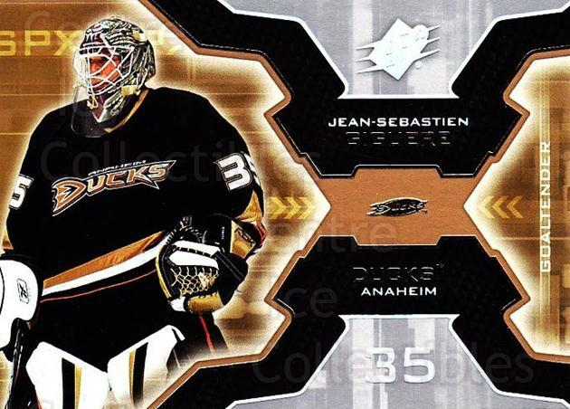 2006-07 SPx #3 Jean-Sebastien Giguere<br/>5 In Stock - $1.00 each - <a href=https://centericecollectibles.foxycart.com/cart?name=2006-07%20SPx%20%233%20Jean-Sebastien%20...&quantity_max=5&price=$1.00&code=132950 class=foxycart> Buy it now! </a>