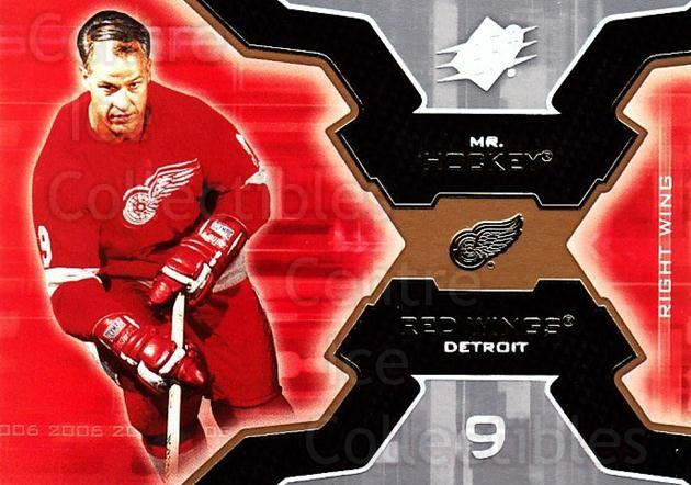 2006-07 SPx #34 Gordie Howe<br/>3 In Stock - $2.00 each - <a href=https://centericecollectibles.foxycart.com/cart?name=2006-07%20SPx%20%2334%20Gordie%20Howe...&quantity_max=3&price=$2.00&code=132955 class=foxycart> Buy it now! </a>