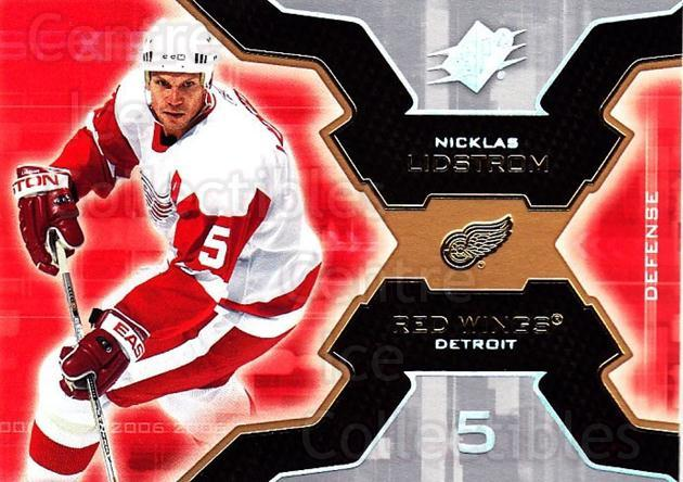 2006-07 SPx #35 Nicklas Lidstrom<br/>2 In Stock - $1.00 each - <a href=https://centericecollectibles.foxycart.com/cart?name=2006-07%20SPx%20%2335%20Nicklas%20Lidstro...&quantity_max=2&price=$1.00&code=132956 class=foxycart> Buy it now! </a>