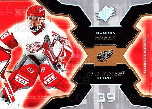 2006-07 SPx #37 Dominik Hasek<br/>4 In Stock - $1.00 each - <a href=https://centericecollectibles.foxycart.com/cart?name=2006-07%20SPx%20%2337%20Dominik%20Hasek...&quantity_max=4&price=$1.00&code=132958 class=foxycart> Buy it now! </a>