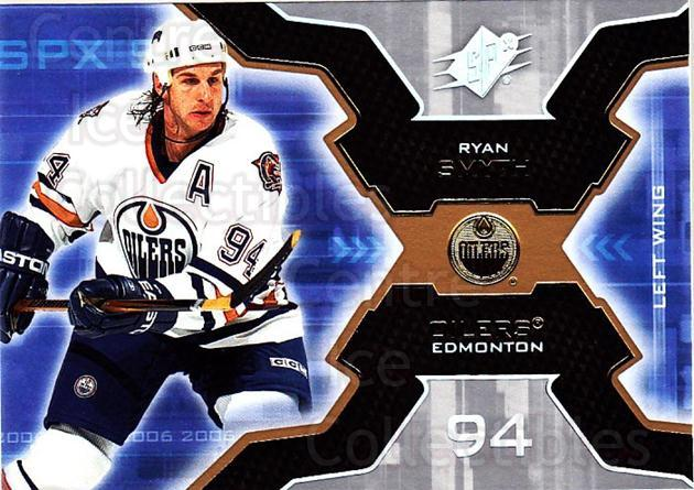 2006-07 SPx #38 Ryan Smyth<br/>5 In Stock - $1.00 each - <a href=https://centericecollectibles.foxycart.com/cart?name=2006-07%20SPx%20%2338%20Ryan%20Smyth...&quantity_max=5&price=$1.00&code=132959 class=foxycart> Buy it now! </a>