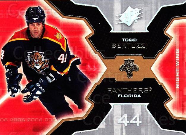 2006-07 SPx #43 Todd Bertuzzi<br/>6 In Stock - $1.00 each - <a href=https://centericecollectibles.foxycart.com/cart?name=2006-07%20SPx%20%2343%20Todd%20Bertuzzi...&quantity_max=6&price=$1.00&code=132964 class=foxycart> Buy it now! </a>