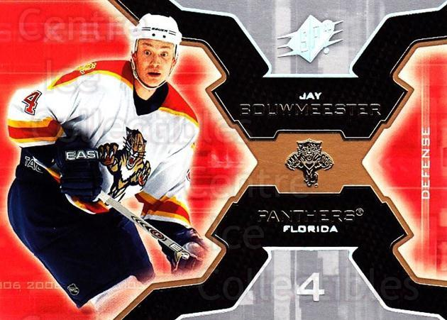 2006-07 SPx #45 Jay Bouwmeester<br/>6 In Stock - $1.00 each - <a href=https://centericecollectibles.foxycart.com/cart?name=2006-07%20SPx%20%2345%20Jay%20Bouwmeester...&quantity_max=6&price=$1.00&code=132966 class=foxycart> Buy it now! </a>
