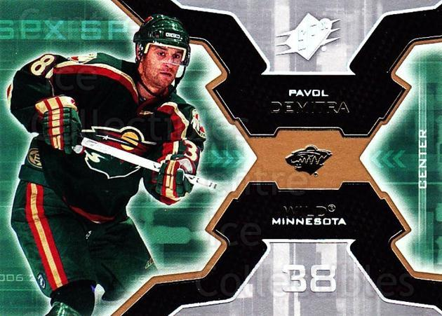 2006-07 SPx #50 Pavol Demitra<br/>8 In Stock - $1.00 each - <a href=https://centericecollectibles.foxycart.com/cart?name=2006-07%20SPx%20%2350%20Pavol%20Demitra...&quantity_max=8&price=$1.00&code=132972 class=foxycart> Buy it now! </a>