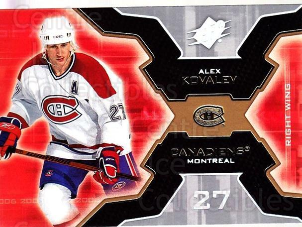 2006-07 SPx #51 Alexei Kovalev<br/>5 In Stock - $1.00 each - <a href=https://centericecollectibles.foxycart.com/cart?name=2006-07%20SPx%20%2351%20Alexei%20Kovalev...&quantity_max=5&price=$1.00&code=132973 class=foxycart> Buy it now! </a>