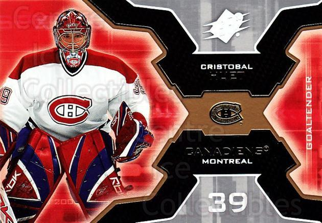 2006-07 SPx #52 Cristobal Huet<br/>5 In Stock - $1.00 each - <a href=https://centericecollectibles.foxycart.com/cart?name=2006-07%20SPx%20%2352%20Cristobal%20Huet...&quantity_max=5&price=$1.00&code=132974 class=foxycart> Buy it now! </a>