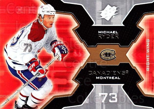 2006-07 SPx #54 Michael Ryder<br/>5 In Stock - $1.00 each - <a href=https://centericecollectibles.foxycart.com/cart?name=2006-07%20SPx%20%2354%20Michael%20Ryder...&quantity_max=5&price=$1.00&code=132976 class=foxycart> Buy it now! </a>