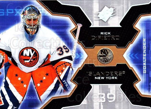 2006-07 SPx #63 Rick DiPietro<br/>6 In Stock - $1.00 each - <a href=https://centericecollectibles.foxycart.com/cart?name=2006-07%20SPx%20%2363%20Rick%20DiPietro...&quantity_max=6&price=$1.00&code=132986 class=foxycart> Buy it now! </a>