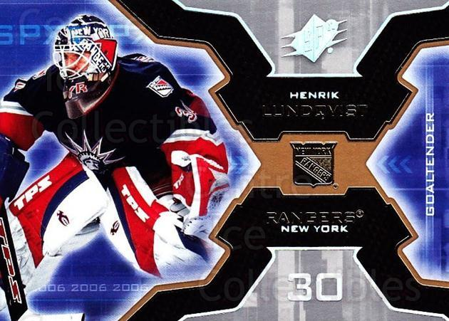 2006-07 SPx #67 Henrik Lundqvist<br/>5 In Stock - $2.00 each - <a href=https://centericecollectibles.foxycart.com/cart?name=2006-07%20SPx%20%2367%20Henrik%20Lundqvis...&quantity_max=5&price=$2.00&code=132990 class=foxycart> Buy it now! </a>