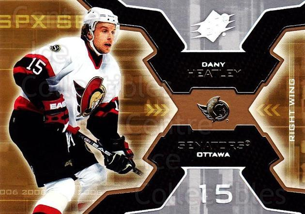 2006-07 SPx #72 Dany Heatley<br/>6 In Stock - $1.00 each - <a href=https://centericecollectibles.foxycart.com/cart?name=2006-07%20SPx%20%2372%20Dany%20Heatley...&quantity_max=6&price=$1.00&code=132996 class=foxycart> Buy it now! </a>