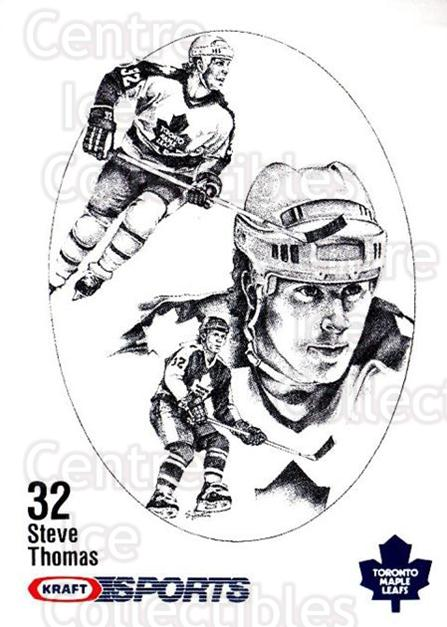 1986-87 Kraft Drawings #75 Steve Thomas<br/>6 In Stock - $2.00 each - <a href=https://centericecollectibles.foxycart.com/cart?name=1986-87%20Kraft%20Drawings%20%2375%20Steve%20Thomas...&quantity_max=6&price=$2.00&code=132 class=foxycart> Buy it now! </a>