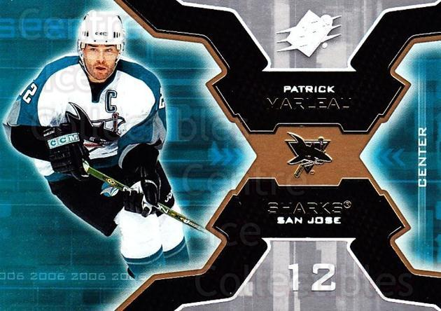 2006-07 SPx #84 Patrick Marleau<br/>6 In Stock - $1.00 each - <a href=https://centericecollectibles.foxycart.com/cart?name=2006-07%20SPx%20%2384%20Patrick%20Marleau...&quantity_max=6&price=$1.00&code=133007 class=foxycart> Buy it now! </a>