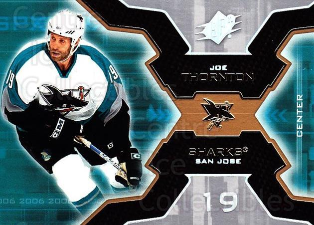 2006-07 SPx #85 Joe Thornton<br/>5 In Stock - $1.00 each - <a href=https://centericecollectibles.foxycart.com/cart?name=2006-07%20SPx%20%2385%20Joe%20Thornton...&quantity_max=5&price=$1.00&code=133008 class=foxycart> Buy it now! </a>