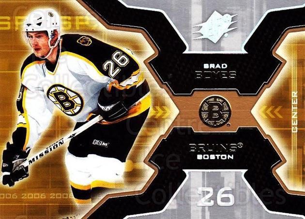 2006-07 SPx #9 Brad Boyes<br/>6 In Stock - $1.00 each - <a href=https://centericecollectibles.foxycart.com/cart?name=2006-07%20SPx%20%239%20Brad%20Boyes...&quantity_max=6&price=$1.00&code=133013 class=foxycart> Buy it now! </a>