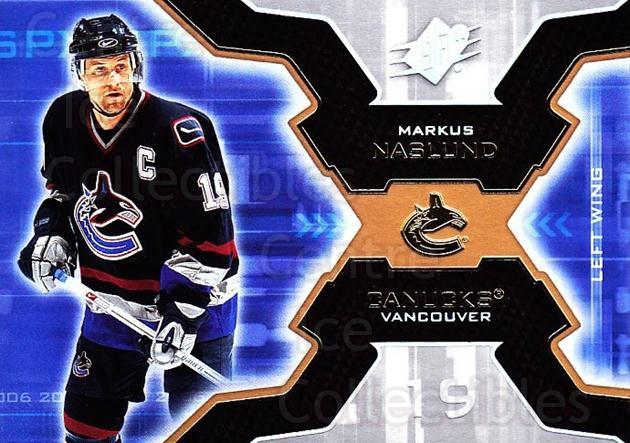 2006-07 SPx #97 Markus Naslund<br/>4 In Stock - $1.00 each - <a href=https://centericecollectibles.foxycart.com/cart?name=2006-07%20SPx%20%2397%20Markus%20Naslund...&quantity_max=4&price=$1.00&code=133021 class=foxycart> Buy it now! </a>