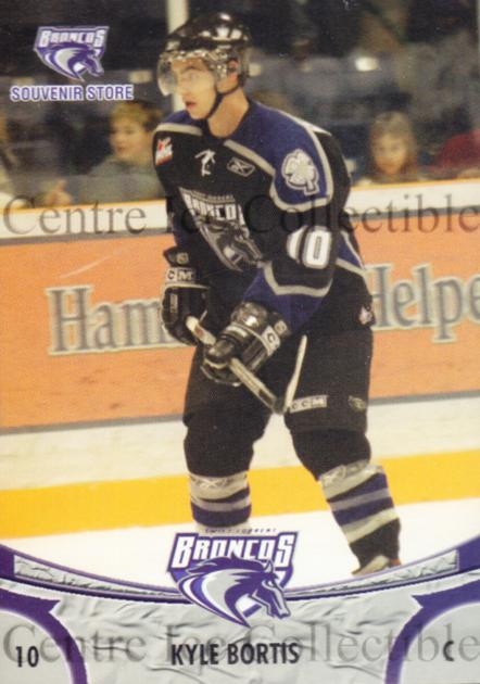 2006-07 Swift Current Broncos #1 Kyle Bortis<br/>8 In Stock - $3.00 each - <a href=https://centericecollectibles.foxycart.com/cart?name=2006-07%20Swift%20Current%20Broncos%20%231%20Kyle%20Bortis...&quantity_max=8&price=$3.00&code=133201 class=foxycart> Buy it now! </a>