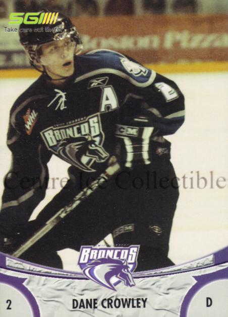 2006-07 Swift Current Broncos #3 Dane Crowley<br/>6 In Stock - $3.00 each - <a href=https://centericecollectibles.foxycart.com/cart?name=2006-07%20Swift%20Current%20Broncos%20%233%20Dane%20Crowley...&quantity_max=6&price=$3.00&code=133213 class=foxycart> Buy it now! </a>