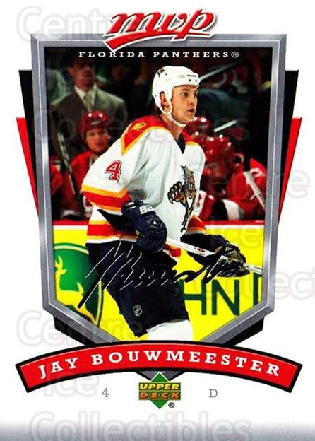 2006-07 Upper Deck MVP #130 Jay Bouwmeester<br/>5 In Stock - $1.00 each - <a href=https://centericecollectibles.foxycart.com/cart?name=2006-07%20Upper%20Deck%20MVP%20%23130%20Jay%20Bouwmeester...&quantity_max=5&price=$1.00&code=133550 class=foxycart> Buy it now! </a>
