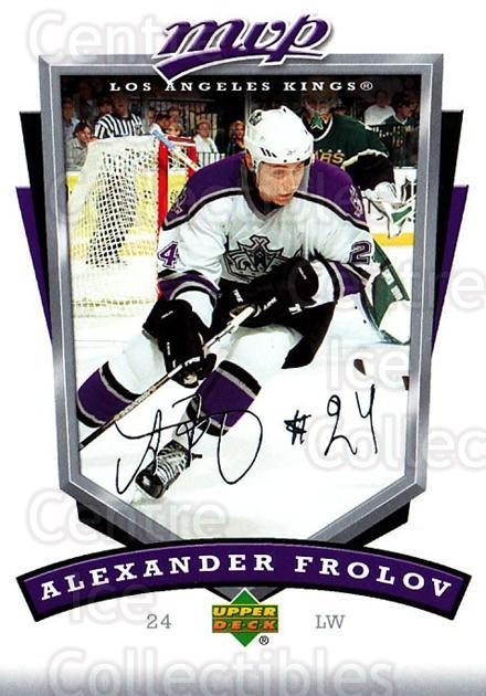 2006-07 Upper Deck MVP #132 Alexander Frolov<br/>5 In Stock - $1.00 each - <a href=https://centericecollectibles.foxycart.com/cart?name=2006-07%20Upper%20Deck%20MVP%20%23132%20Alexander%20Frolo...&quantity_max=5&price=$1.00&code=133552 class=foxycart> Buy it now! </a>