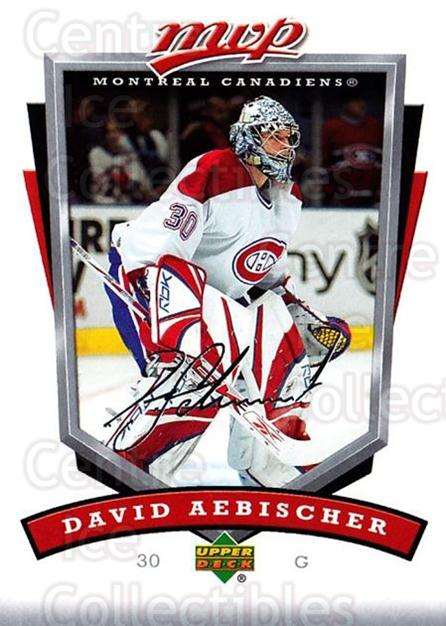 2006-07 Upper Deck MVP #156 David Aebischer<br/>4 In Stock - $1.00 each - <a href=https://centericecollectibles.foxycart.com/cart?name=2006-07%20Upper%20Deck%20MVP%20%23156%20David%20Aebischer...&quantity_max=4&price=$1.00&code=133578 class=foxycart> Buy it now! </a>