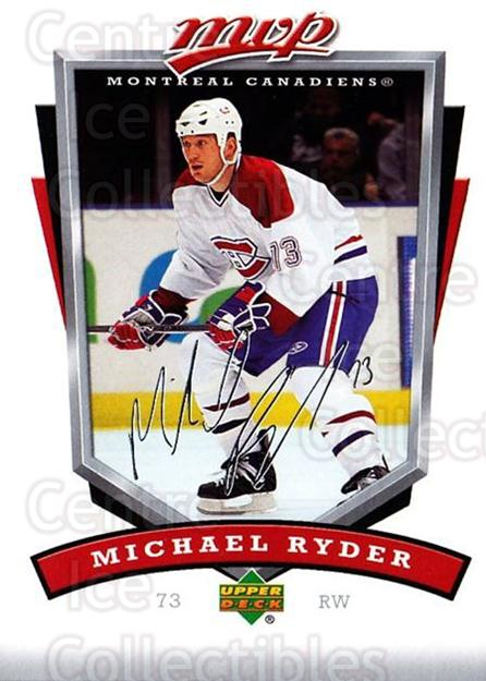 2006-07 Upper Deck MVP #159 Michael Ryder<br/>3 In Stock - $1.00 each - <a href=https://centericecollectibles.foxycart.com/cart?name=2006-07%20Upper%20Deck%20MVP%20%23159%20Michael%20Ryder...&quantity_max=3&price=$1.00&code=133581 class=foxycart> Buy it now! </a>