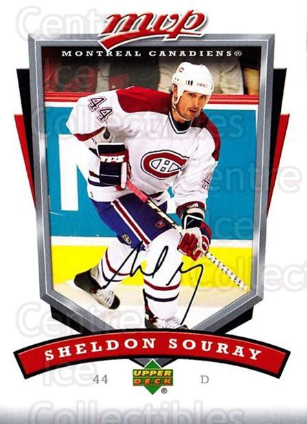 2006-07 Upper Deck MVP #160 Sheldon Souray<br/>4 In Stock - $1.00 each - <a href=https://centericecollectibles.foxycart.com/cart?name=2006-07%20Upper%20Deck%20MVP%20%23160%20Sheldon%20Souray...&quantity_max=4&price=$1.00&code=133583 class=foxycart> Buy it now! </a>