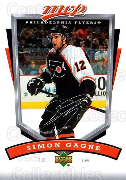 2006-07 Upper Deck MVP #211 Simon Gagne<br/>5 In Stock - $1.00 each - <a href=https://centericecollectibles.foxycart.com/cart?name=2006-07%20Upper%20Deck%20MVP%20%23211%20Simon%20Gagne...&quantity_max=5&price=$1.00&code=133630 class=foxycart> Buy it now! </a>