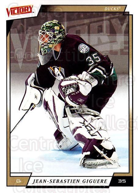 2006-07 UD Victory #1 Jean-Sebastien Giguere<br/>3 In Stock - $1.00 each - <a href=https://centericecollectibles.foxycart.com/cart?name=2006-07%20UD%20Victory%20%231%20Jean-Sebastien%20...&quantity_max=3&price=$1.00&code=133779 class=foxycart> Buy it now! </a>