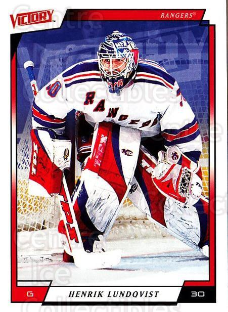 2006-07 UD Victory #129 Henrik Lundqvist<br/>3 In Stock - $2.00 each - <a href=https://centericecollectibles.foxycart.com/cart?name=2006-07%20UD%20Victory%20%23129%20Henrik%20Lundqvis...&quantity_max=3&price=$2.00&code=133812 class=foxycart> Buy it now! </a>