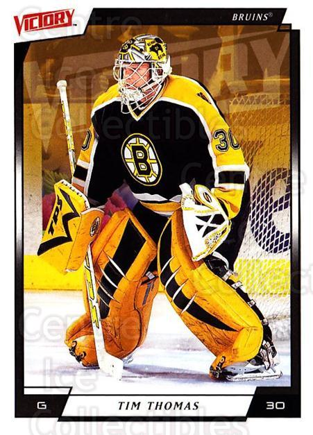 2006-07 UD Victory #13 Tim Thomas<br/>3 In Stock - $1.00 each - <a href=https://centericecollectibles.foxycart.com/cart?name=2006-07%20UD%20Victory%20%2313%20Tim%20Thomas...&quantity_max=3&price=$1.00&code=133813 class=foxycart> Buy it now! </a>