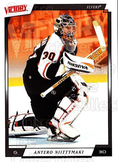 2006-07 UD Victory #144 Antero Niittymaki<br/>4 In Stock - $1.00 each - <a href=https://centericecollectibles.foxycart.com/cart?name=2006-07%20UD%20Victory%20%23144%20Antero%20Niittyma...&quantity_max=4&price=$1.00&code=133829 class=foxycart> Buy it now! </a>