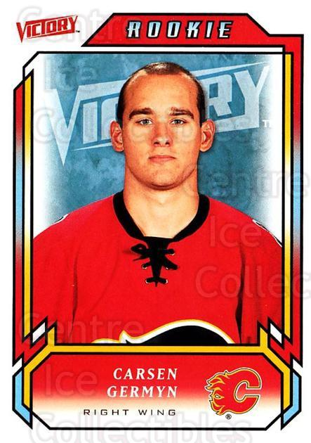 2006-07 UD Victory #218 Carsen Germyn<br/>3 In Stock - $2.00 each - <a href=https://centericecollectibles.foxycart.com/cart?name=2006-07%20UD%20Victory%20%23218%20Carsen%20Germyn...&quantity_max=3&price=$2.00&code=133911 class=foxycart> Buy it now! </a>