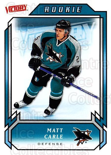 2006-07 UD Victory #219 Matt Carle<br/>7 In Stock - $2.00 each - <a href=https://centericecollectibles.foxycart.com/cart?name=2006-07%20UD%20Victory%20%23219%20Matt%20Carle...&quantity_max=7&price=$2.00&code=133912 class=foxycart> Buy it now! </a>