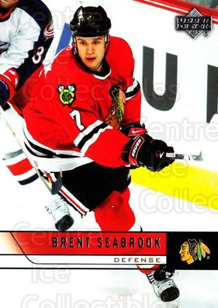 2006-07 Upper Deck #293 Brent Seabrook<br/>1 In Stock - $1.00 each - <a href=https://centericecollectibles.foxycart.com/cart?name=2006-07%20Upper%20Deck%20%23293%20Brent%20Seabrook...&quantity_max=1&price=$1.00&code=133964 class=foxycart> Buy it now! </a>