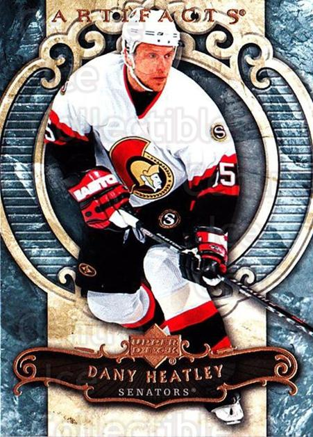 2007-08 UD Artifacts #11 Dany Heatley<br/>4 In Stock - $1.00 each - <a href=https://centericecollectibles.foxycart.com/cart?name=2007-08%20UD%20Artifacts%20%2311%20Dany%20Heatley...&quantity_max=4&price=$1.00&code=134049 class=foxycart> Buy it now! </a>