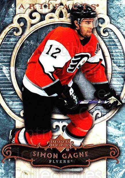 2007-08 UD Artifacts #48 Simon Gagne<br/>6 In Stock - $1.00 each - <a href=https://centericecollectibles.foxycart.com/cart?name=2007-08%20UD%20Artifacts%20%2348%20Simon%20Gagne...&quantity_max=6&price=$1.00&code=134088 class=foxycart> Buy it now! </a>