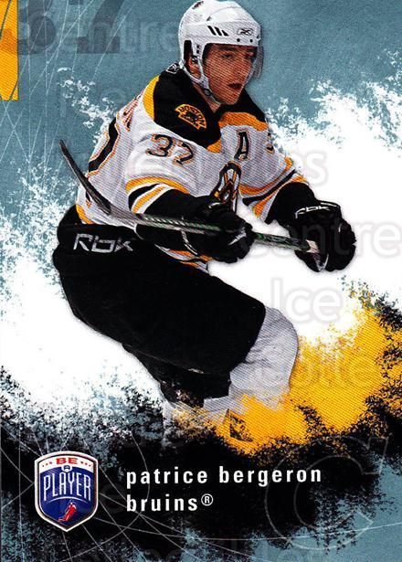 2007-08 Be A Player #14 Patrice Bergeron<br/>2 In Stock - $2.00 each - <a href=https://centericecollectibles.foxycart.com/cart?name=2007-08%20Be%20A%20Player%20%2314%20Patrice%20Bergero...&quantity_max=2&price=$2.00&code=134181 class=foxycart> Buy it now! </a>