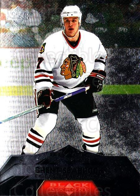 2007-08 Black Diamond #18 Brent Seabrook<br/>4 In Stock - $1.00 each - <a href=https://centericecollectibles.foxycart.com/cart?name=2007-08%20Black%20Diamond%20%2318%20Brent%20Seabrook...&quantity_max=4&price=$1.00&code=134406 class=foxycart> Buy it now! </a>