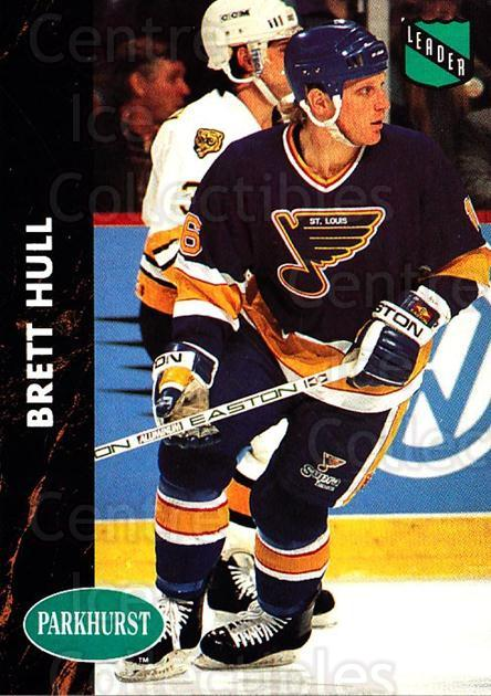 1991-92 Parkhurst #219 Brett Hull<br/>5 In Stock - $1.00 each - <a href=https://centericecollectibles.foxycart.com/cart?name=1991-92%20Parkhurst%20%23219%20Brett%20Hull...&price=$1.00&code=13448 class=foxycart> Buy it now! </a>
