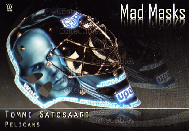 2007-08 Finnish Cardset Mad Masks #12 Tommi Satosaari<br/>4 In Stock - $3.00 each - <a href=https://centericecollectibles.foxycart.com/cart?name=2007-08%20Finnish%20Cardset%20Mad%20Masks%20%2312%20Tommi%20Satosaari...&quantity_max=4&price=$3.00&code=134556 class=foxycart> Buy it now! </a>