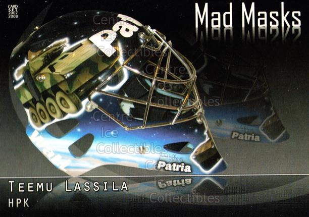 2007-08 Finnish Cardset Mad Masks #3 Teemu Lassila<br/>2 In Stock - $3.00 each - <a href=https://centericecollectibles.foxycart.com/cart?name=2007-08%20Finnish%20Cardset%20Mad%20Masks%20%233%20Teemu%20Lassila...&quantity_max=2&price=$3.00&code=134559 class=foxycart> Buy it now! </a>